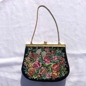 Vintage Floral Tapestry Mini Bag Purse